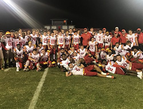 Football Celebrates Perfect Season