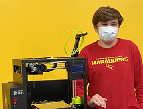Senior Schafer Eckardt donates 3D printer